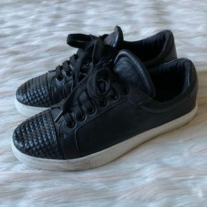 Rebecca Minkoff Bleecker Leather Studded Sneaker